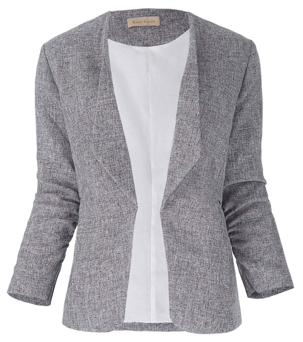 Compra chaqueta de mezclilla gris online al por mayor de