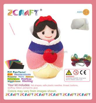 Felt Clockwork Toy Kawaii Snow White Princess Doll Japanese Diy Kit