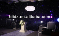 programmable led star effect backdrop led curtain wall light for stage decoration wedding background