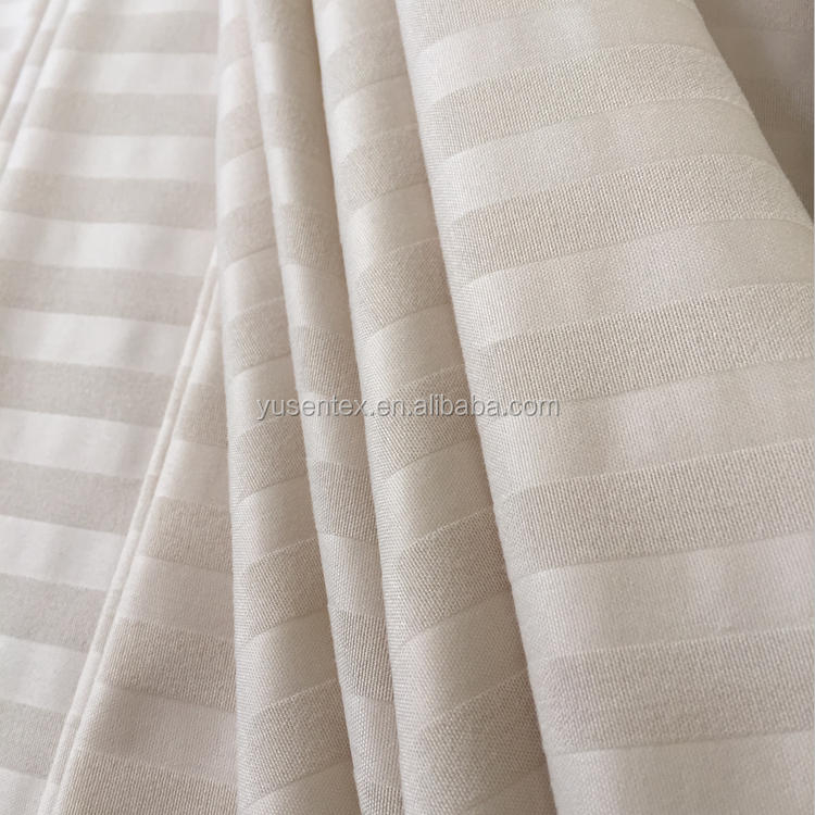100% polyester embossed microfiber stripe bed sheet fabric