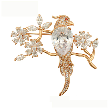 brooches-65 Xuping Jewelry Fashion Luxury Women Brooch With 18K Gold Color