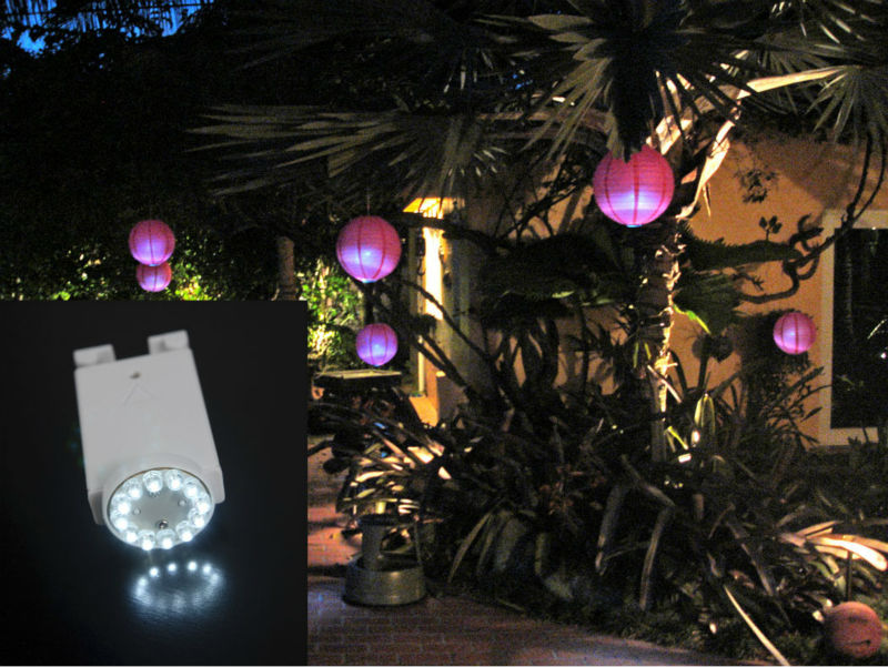 Remote Controlled 3AAA Battery Operated 2.8inch Submersible LED Paper Lantern Light Chinese Style for Wedding Party Decoration