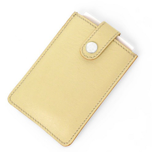 Slide Card Holder Genuine Leather Credit Card Case ID Card Holder