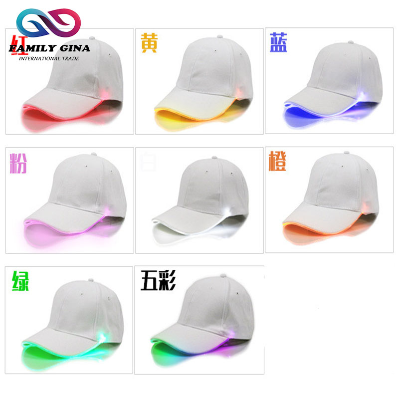 wholesale light flash baseball cap led lights caps built with in brim