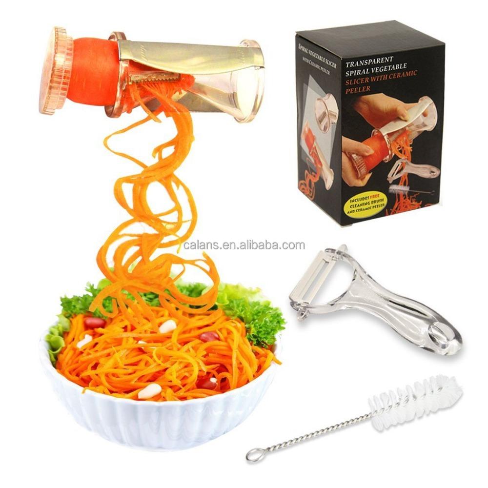 See-through Slicer Cutter Peeler Chopped Salad Maker