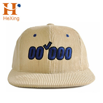c5178bd0458 custom high quality corduroy blank snapback hat wholesale from china factory