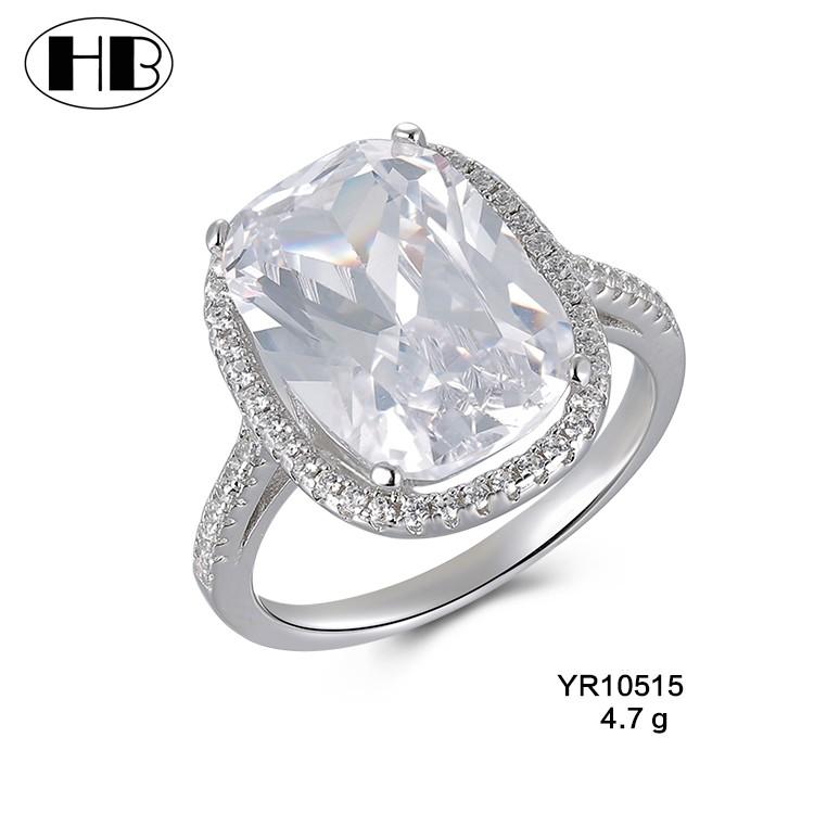 c132976958f9 Venta al por mayor de plata 925 con incrustaciones de joyas de diamantes  modelo de anillo