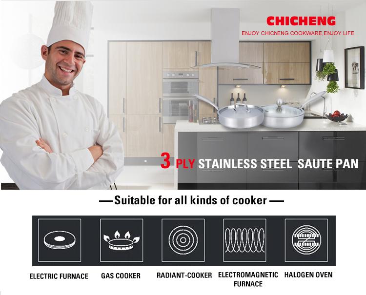 Clad Medium Stainless Steel Black Pot