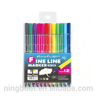 0.4mm 12 colors fine liner pen with water-based ink