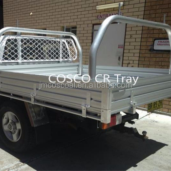 Alloy bed for custom truck cab