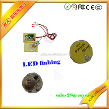Button cell power flashing led module for POP display