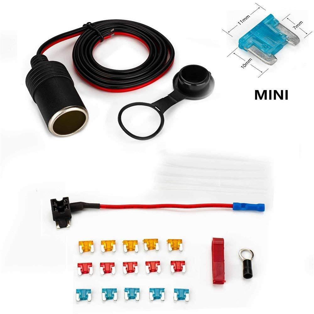 get quotations � car cigarette lighter,jtron 1set 1m car cigarette lighter  adapter add-a-circuit