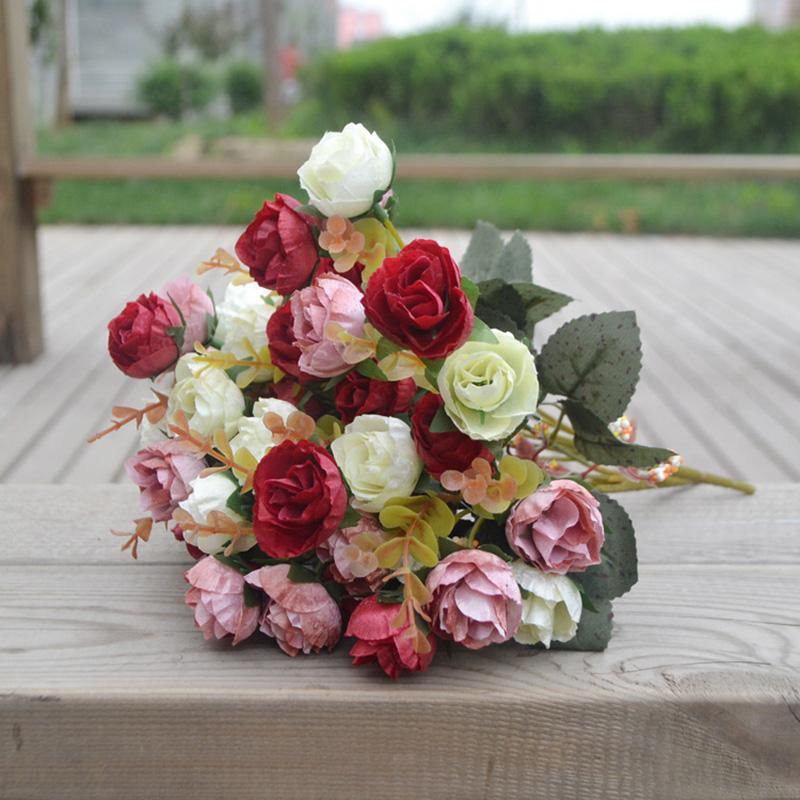 بوكيه ورد صناعي زهور محاكاة الورد باقة الزفاف للتصوير Buy باقة ورد بوكيه ورد صناعي باقة ورد للزفاف Product On Alibaba Com
