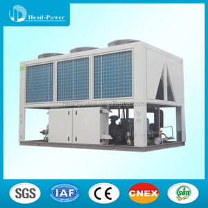 130ton room water air cooler screw air cooled chiller heat pump