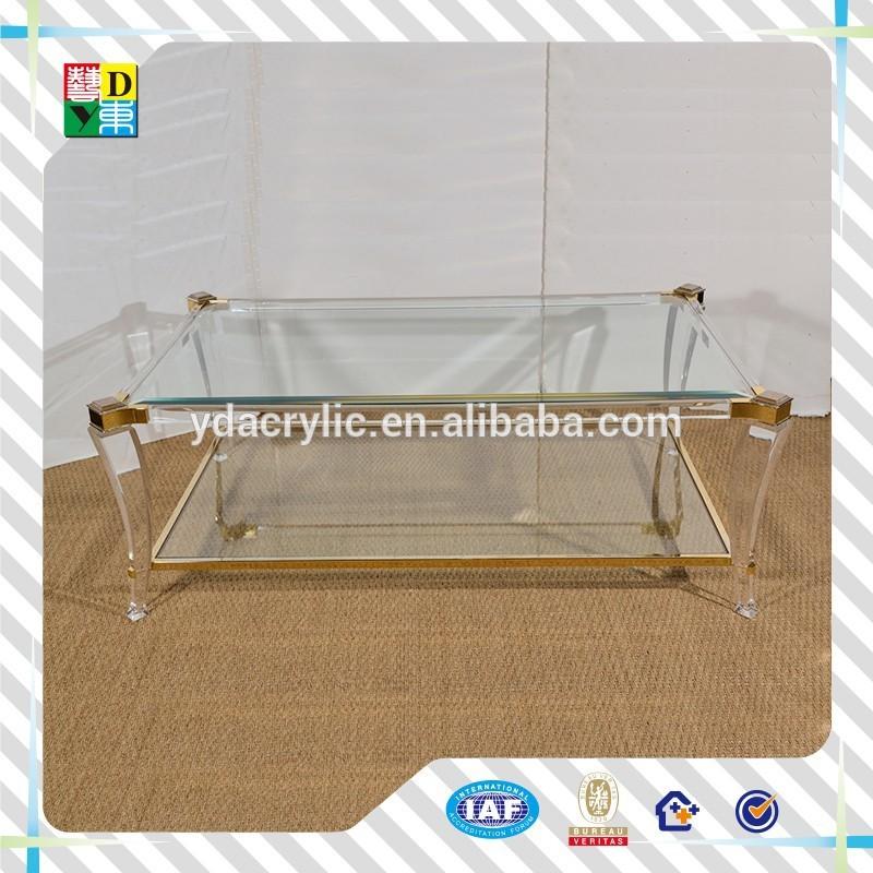 práctica moderna de acrílico mesa cuadrada de China fabricante bajo ...