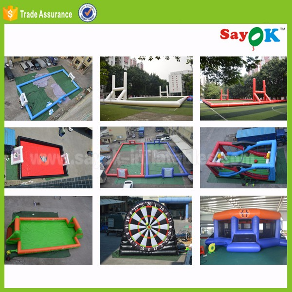 sale new jumbo interactive blow up soccer field sports inflatable arena