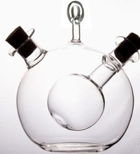 new design hand blown high quality cooking olive oil vinegar glass cruet with stopper for kitchen