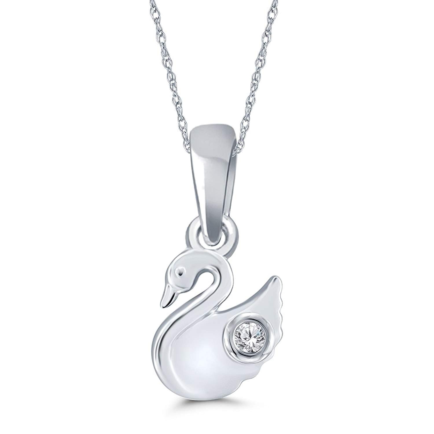 Baby Keepsake Gift Namuri Pendant Baby Imprint Material With Real Diamond