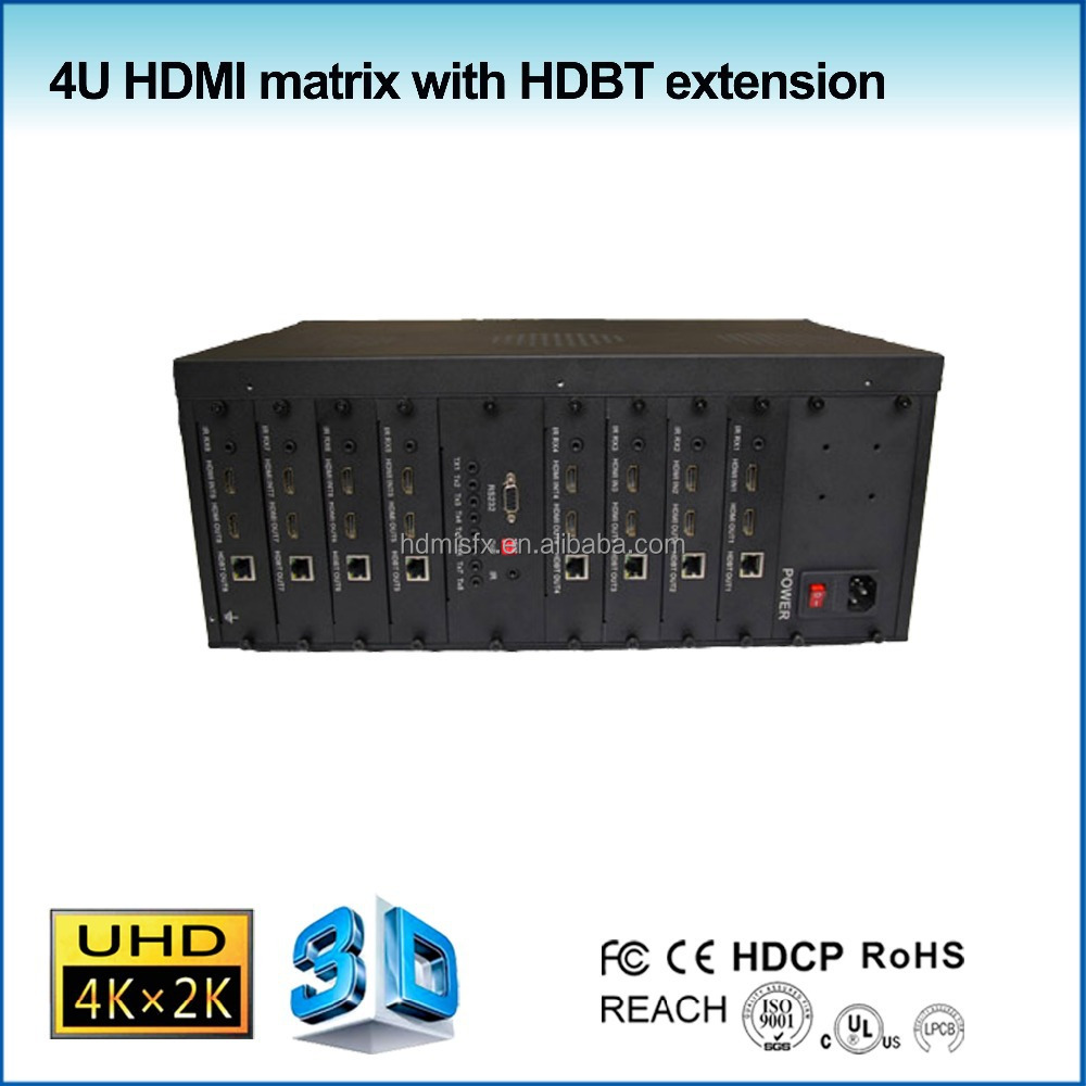 2015 new HDMI matrix switcher 8x8 with remote control, ir cable, support 4k, HDBaseT extender