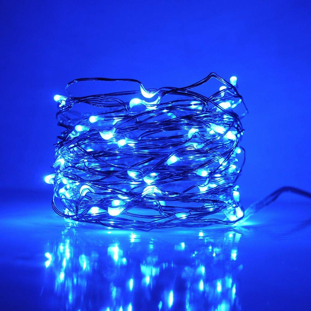 String Lights, Chartsae Extra Long 30m 300 Led Starry String Lights Warm White on a Flexible Copper Wire, Starry Lights for Indoor, Outdoor, Decorative, Patio, Wedding, Garden, Room (Blue)