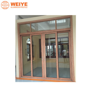 Hgh quality competitive aluminium non thermal break PD door with creative design