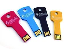 Metal custom logo white key shape stick flash usb, low price special 8gb minions pendrive usb