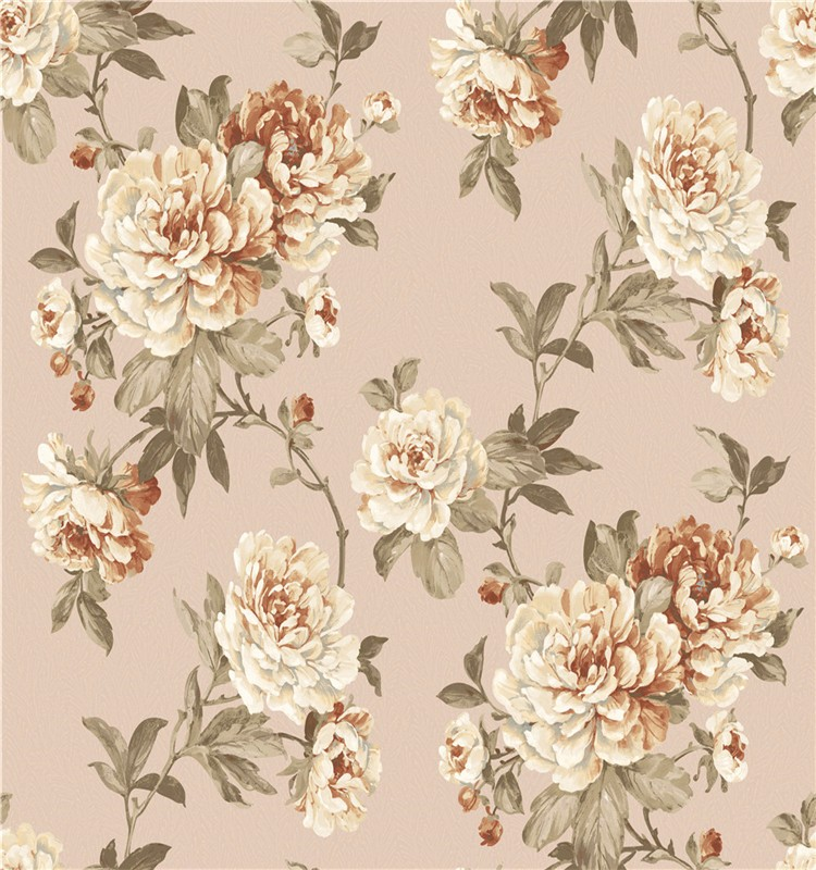 paper classic vinyl wallcoverings flower wall decoration wallpaper designs