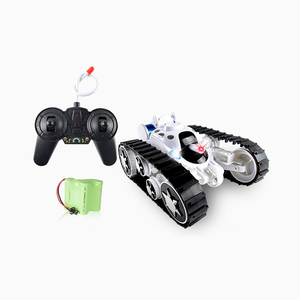 Remote Control Tanks Car - 360 Flip Stunt RC Tank with LED Lights and Music, Gift for Kids Boys Children