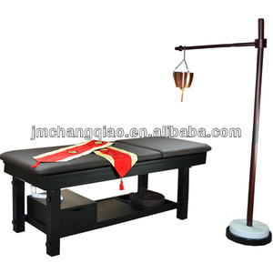 Black Solid Wood Hair Spa Products Oil Massage Thai Massage Bed