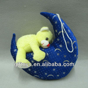 Lovely Plush Teddy Bear with Blue Moon Toy