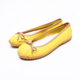 Yellow fashion design flat shoes with rubber sole for women rain rubber boots logo