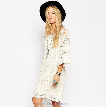 Loose Fitting Summer Casual Lace Dresses For Women Color Beige Buy Lace Dresses For Women Color Beigelace Dresses For Womenwomen Lace Dresses