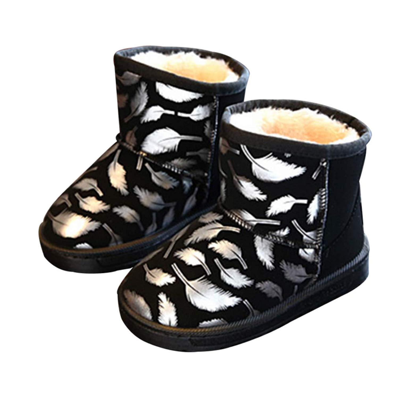 3f9fcc714de Get Quotations · Girls Snow Boots Lovely Design Faux Fur Winter Shoes Warm  Footwear Rubber Sole