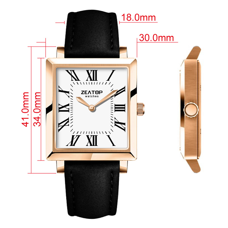 Customized Square Head Watch Quartz Watch Models Fashion Simple Watch
