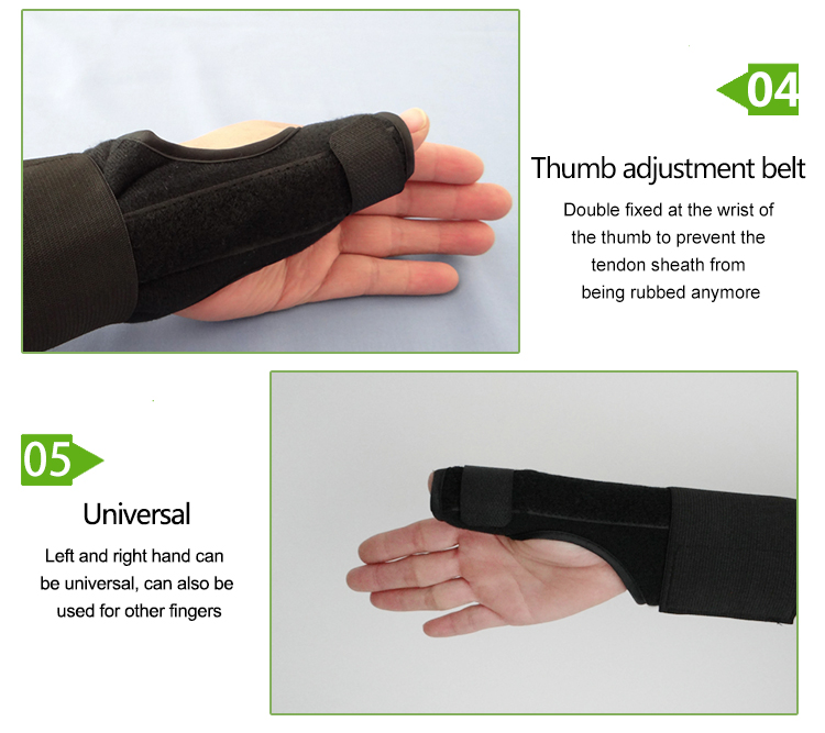 Pain relief wrist and thumb support brace splint band