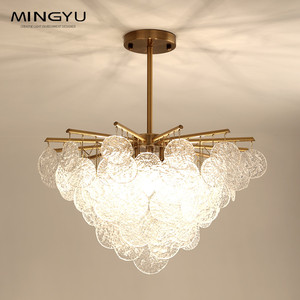 Modern Layer Chandelier Luster Murano Glass Crystal Pendant Light Luxury Hotel Pendant lamps