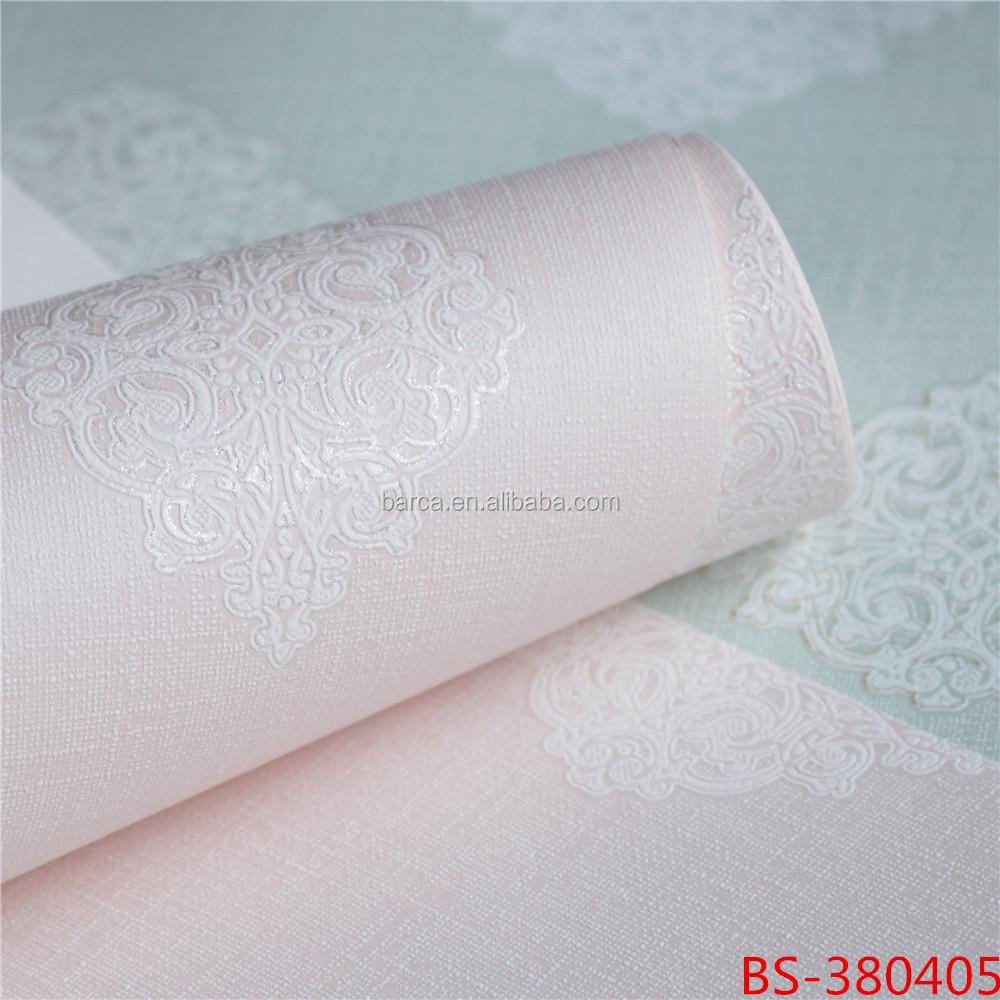 Romantique rose 3d non tissé papier peint pour la maison de mariage déco