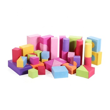 Creative Educational EVA Foam Building Blocks - Ideal Construction Toys for Girls, Boys, Toddlers-48 PCS