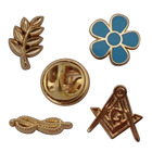 Custom Medal Logo Pins Forget Me Not Masonic pin Masonic Collar Pin
