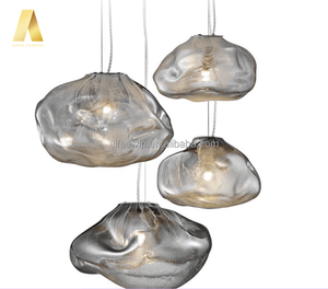 New style nordic modern colored glass irregularity shape colorful hanging pendant lamp/light chandelier