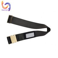Zinc alloy buckle luggage belt for travel safety, nylon luggage strap belt for 32inch luggage