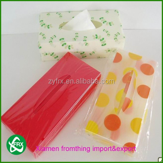 wholesale PVC/PET/PP high quality customized plastic tissue box