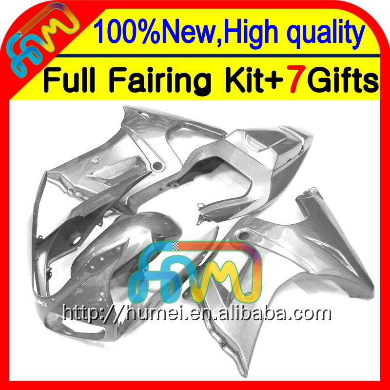 Body For SUZUKI ALL Silver SV650 S 03 04 05 06 07 69CL45 SV1000 S 08 09 10 11 12 13 SV650S Gloss Silver SV1000S 03-13 Fairing