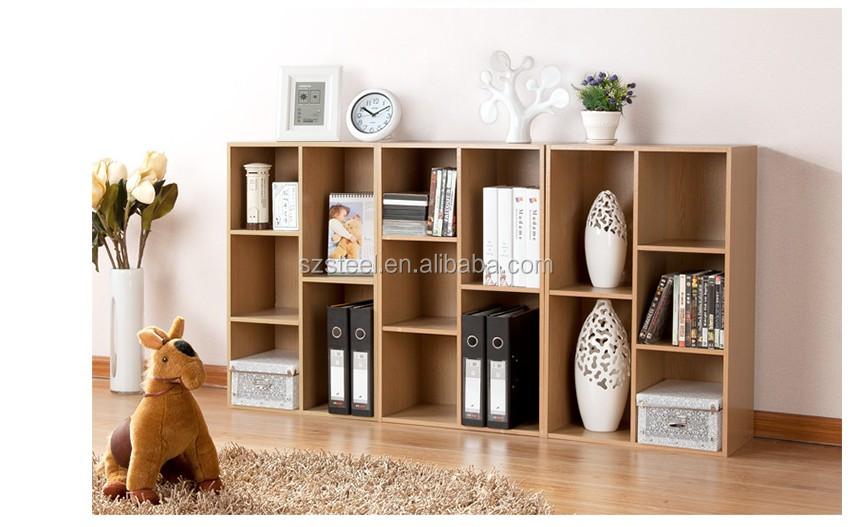 Houten Open Kast : Moderne lage open plank boekenkast eenvoudige houten boekenplank
