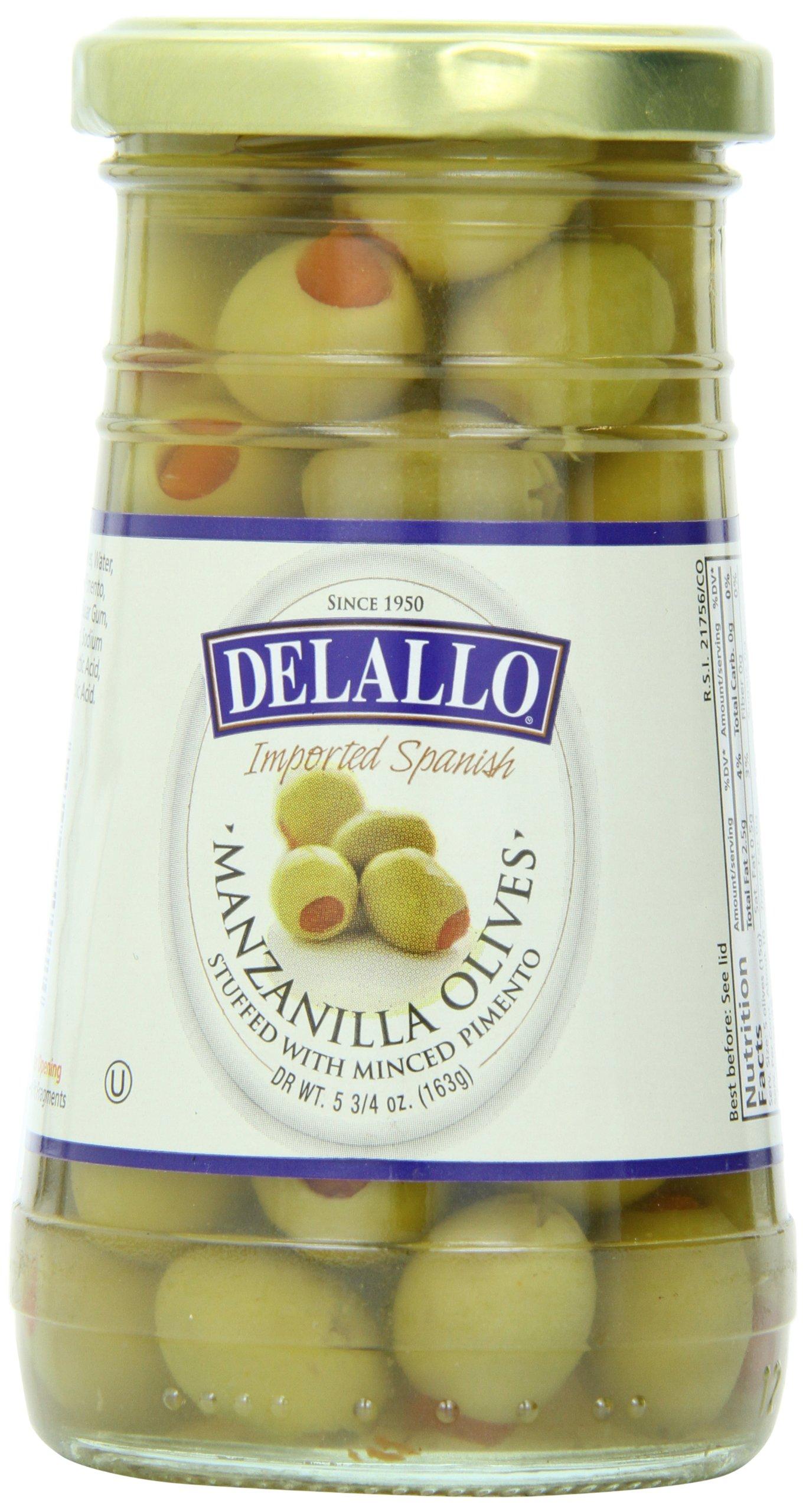 Delallo Olives, Manzanilla, 5.75 Ounce (Pack of 12)