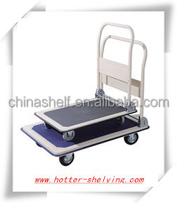 Hot sale warehouse or store material plastic/matel hand car /platform cart