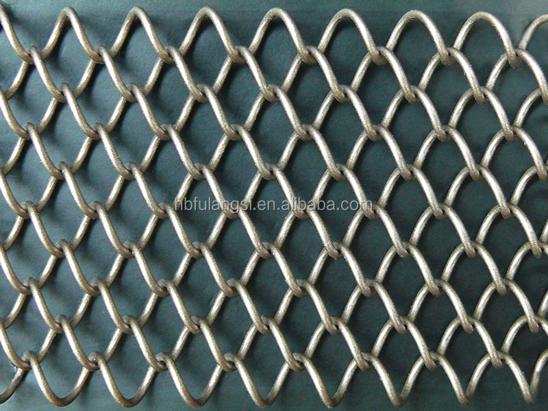 Decorative Metal Fabric Coil Drapery Fireplace Mesh