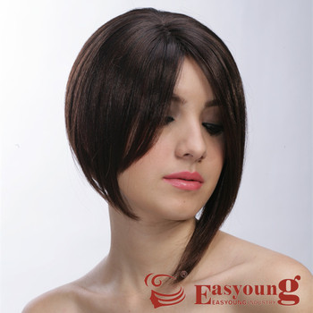 Synthetic Baby Hair Short Style Las Bob Cut Wigs