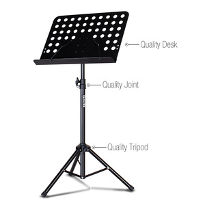 Factory adjustable metal instrument orchestra sheet music stand for music note