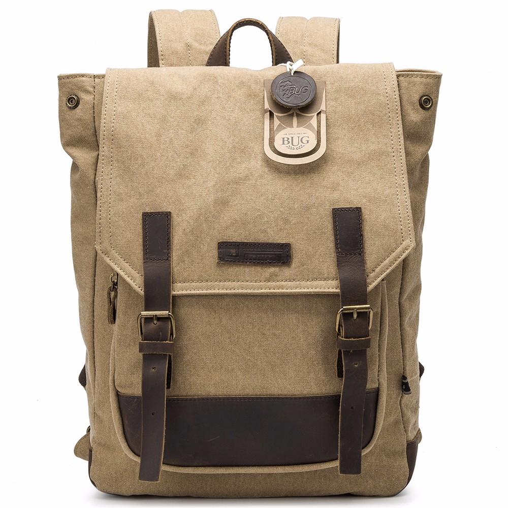 Custom multi-function canvas waterproof laptop backpack bag high school backpack